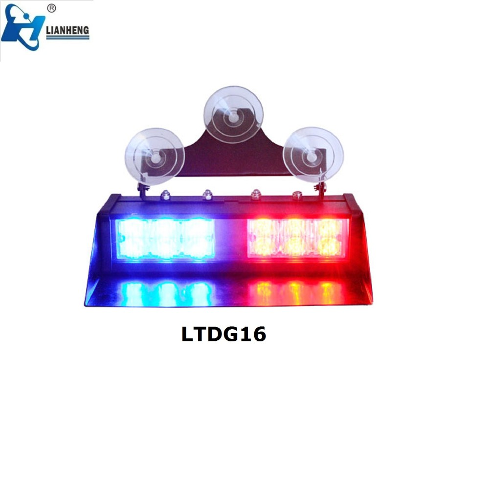 dual color 12 volt led visor dash light visor strobe light led windshield strobe light