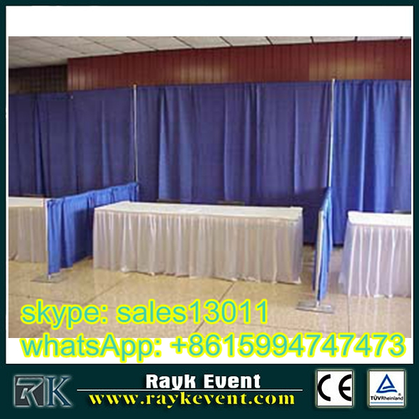 cheap exhibition booth construction - pipe and drape