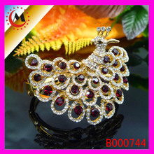 ALIBABA HOT SELLING ARTIFICIAL PEACOCK DESIGN GOLD DIAMOND BRACELET WTIH EYE STONE
