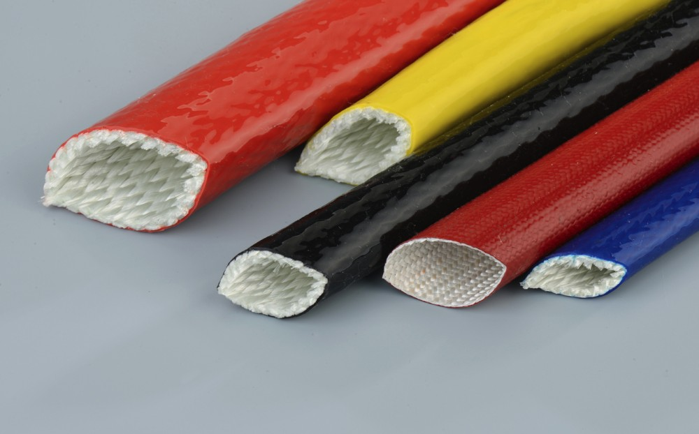 high temperature fiberglass silicone rubber sleeving with high quality