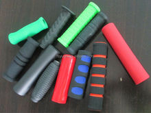 Custom NBR Neoprene EPDM Handle Cover / Extruded Foam Rubber Grip / Vulcanized Molded Silicone Rubber Handle
