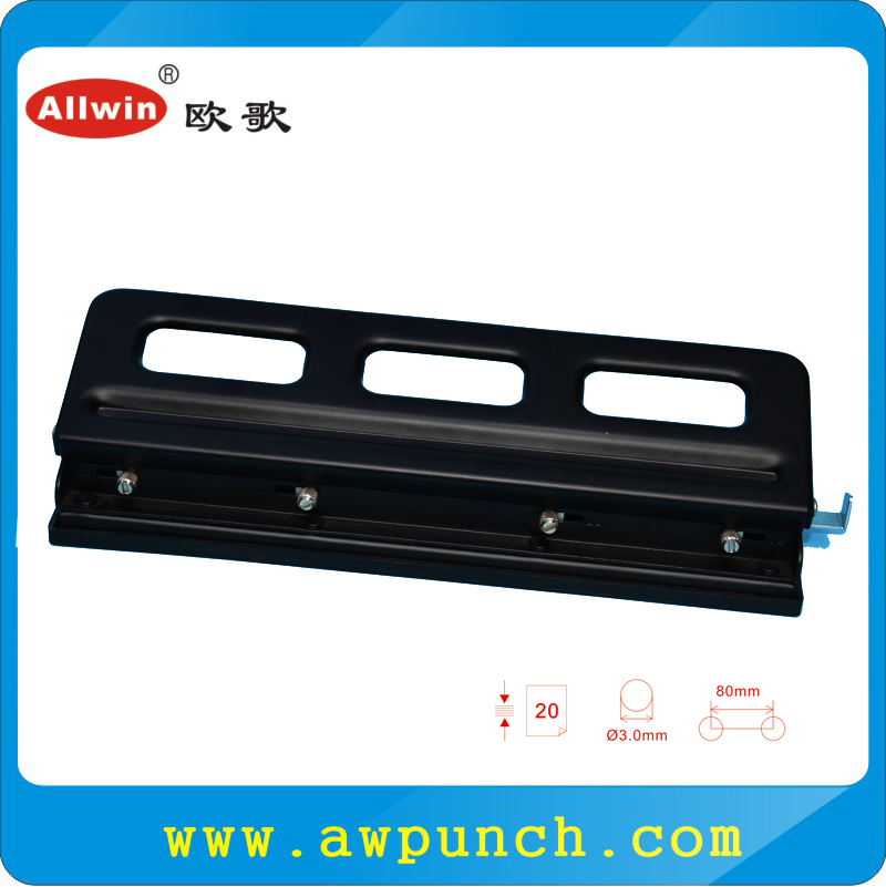 Professional adjustable paper punches 3mm hole