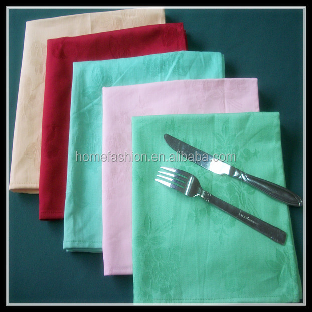 "100% cotton jacquard christmas cloth napkins 20x20"" with rose pattern many colors available"