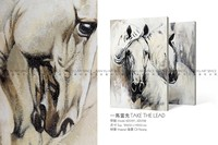 New product decoration interior paintings art on canvas 3d horse painting