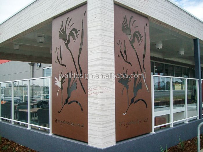 corten steel decorative metal garden fence