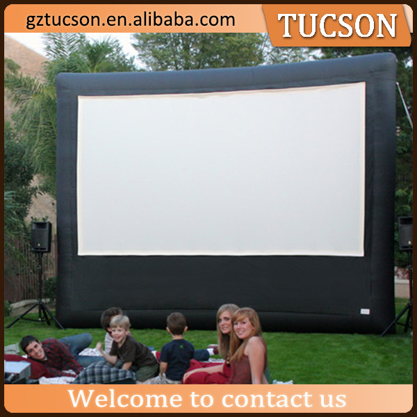 Best selling customized giant inflatable movie screen/ inflatable billboard for advertising
