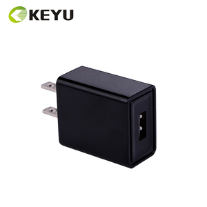 black AC DC USB plug US 5V 1A power adapter UL FCC approved USB charger