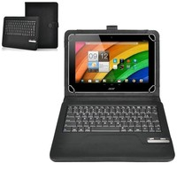 Universal Leather Case with Bluetooth 3.0 LEDELI Keyboard QWERTZ or QWERTY Layout