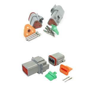 6 Pin Way DT Series Connector Gray Receptacle Waterproof Heavy Duty 14-20 AWG 13 Amps Auto Car Connector