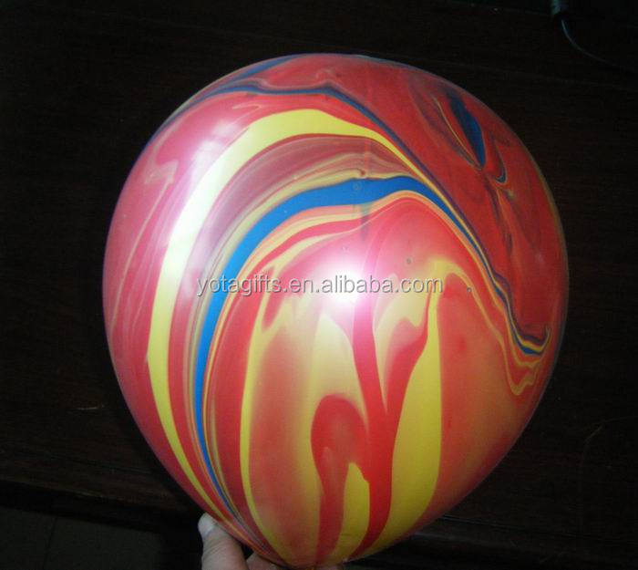 Marble effect with mix color pastel latex balloon