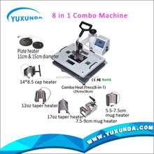 YXD printing home machine prices embroidery home machine prices Maquinaria sublimar COMBO 9 EN 1