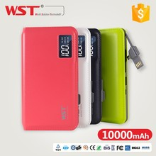 innovative products for import WP928 hot 10000mah buile-in cable power bank