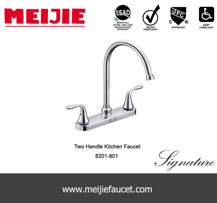 Deck Mounted Installation Type NSF-61 UPC Lavatory Vessel Sink Faucet