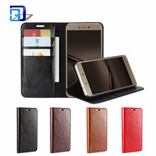 Classical Crazy Horse Pattern Genuine Leather Wallet Sleeve Style Protective Case with Card Slot For Huawei P8 Lite 2017
