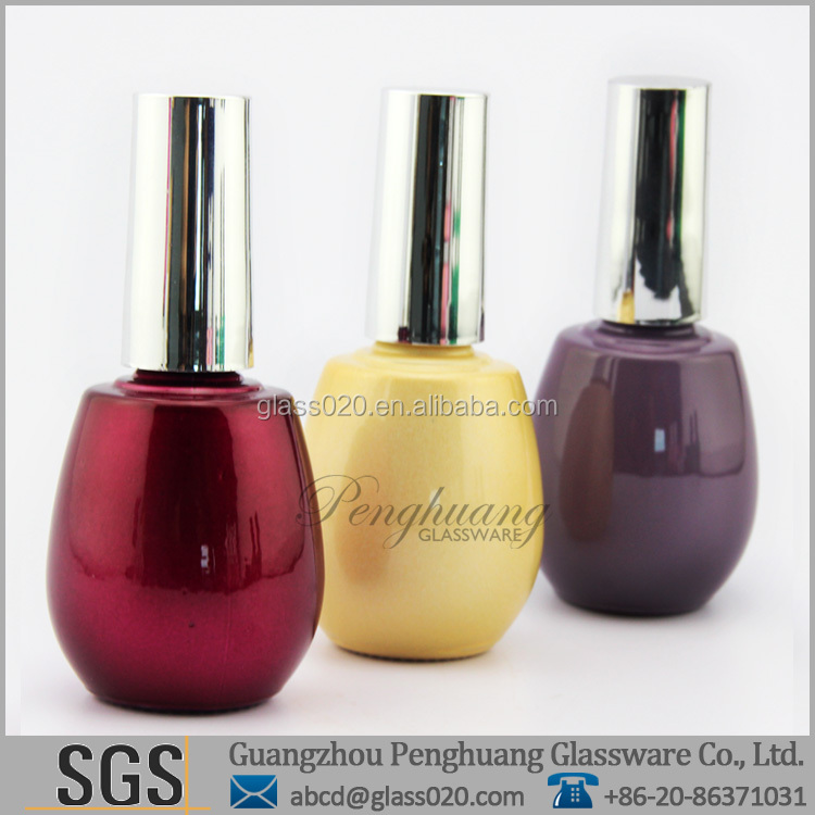 15ml gel nail glass bottles perfume oil use with hot stamping surface handling sealing type