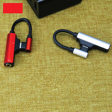 1.8Amp 3.5mm aux jack audio C male to C female metal 90 degree 2 in 1 type c audio adapter