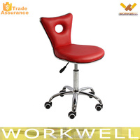 WorkWell KW-B2454 hot selling metal bar chair,leather swivel bar stool