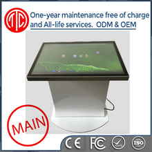 Indoor TFT Type touch screen advertising players information desk