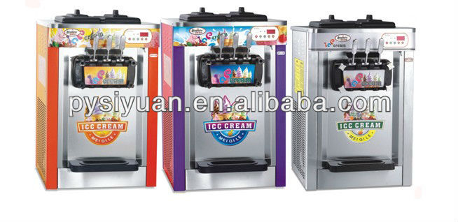 counter top 3 flavors ice cream machine