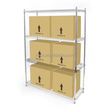 Heavy Duty 4 Tiers Industrial Iron Storage Rack for Factory Use