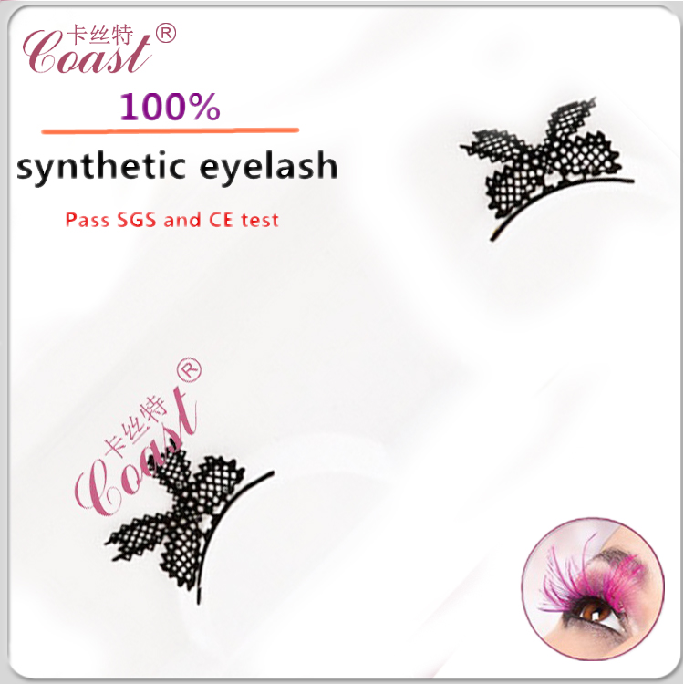unique false bow shaped chinese party magic paper eyelashes