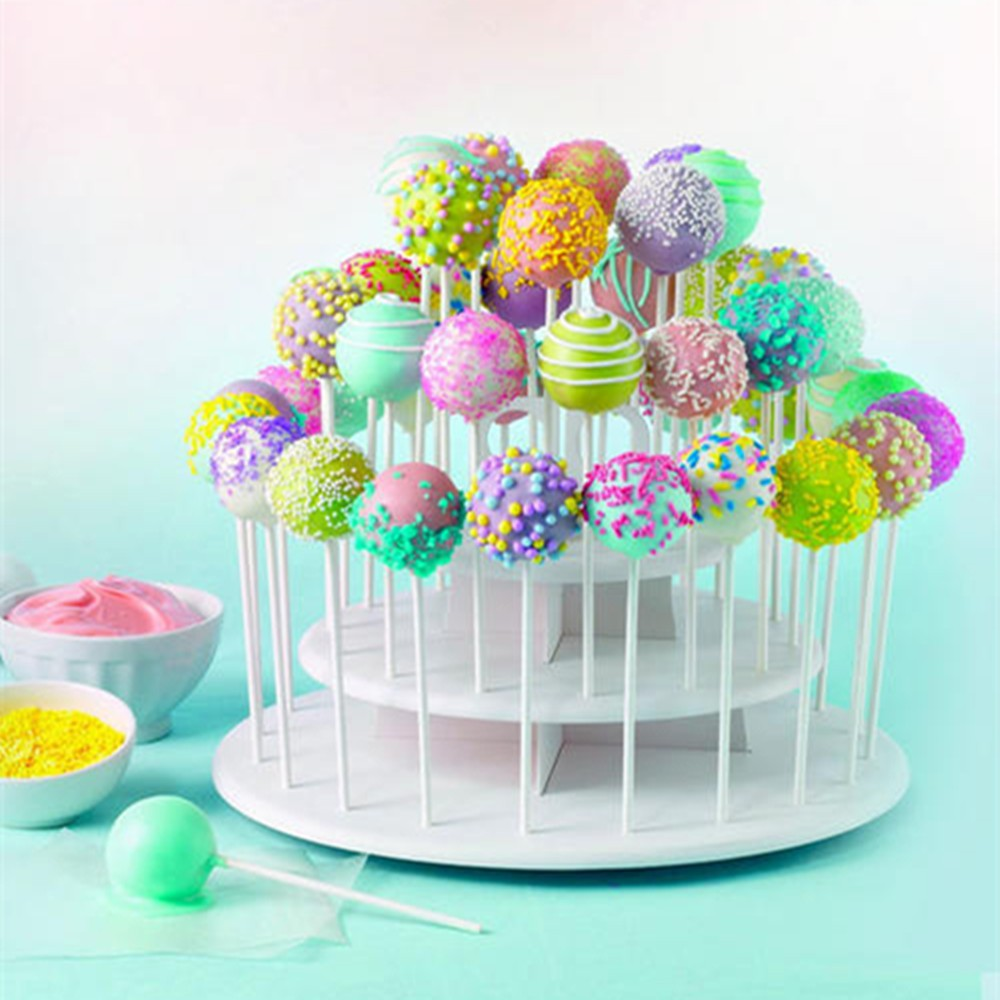 plastic 3 tier round cake stand for cake pop & cupcake
