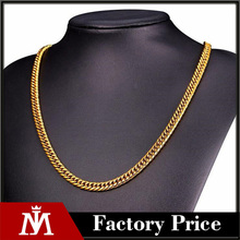 Selling double Knit Circular Grinding Titanium Thick Chain Necklace Men's Personality Necklace