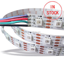 Individually addressable 5050 APA 102 led strip light CE ROHS full color W/WW double CCT