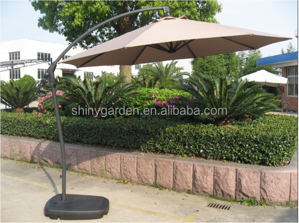 Plastic Water Filled Umbrella Parasol Base With Wheels For Hanging Banana Umbrella