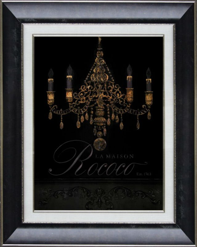 2017 Popular Chandelier Oil Painting Ready Made Frame