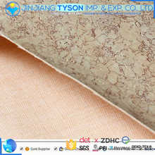 New design woven backing printed PU artifitial leather fabric for shoes