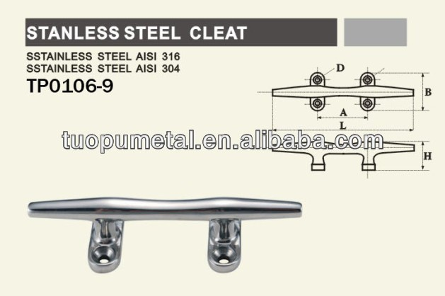 Marine Stainless Steel Mooring Cleat