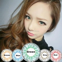 Korea whoesale magic color brown blue gray red hazel cheap green colored contacts lenses