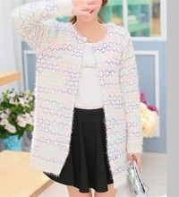 Latest design ladies long cardigan knitting patterns women cardigan