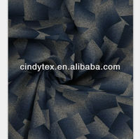 graphic print polyester imitating wool fabric