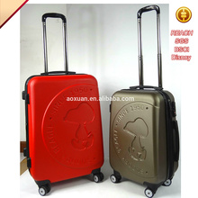 hard abs pc trolley luggage suitcase 4 wheels abs trolley luggage