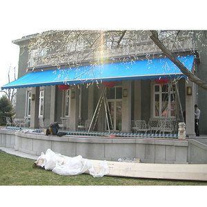 100% waterproof retractable awnings garden terrace awning