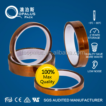 ISO 9001:2008 Certified 3M Equivalent Silicone Adhesive Coated High Temperature Masking Polyimide Taping Roll