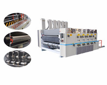 High speed corrugated cardboard carton box flexo printing die cutting pressing machine prices