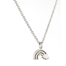 925 sterling silver jewelry rainbow necklace for women