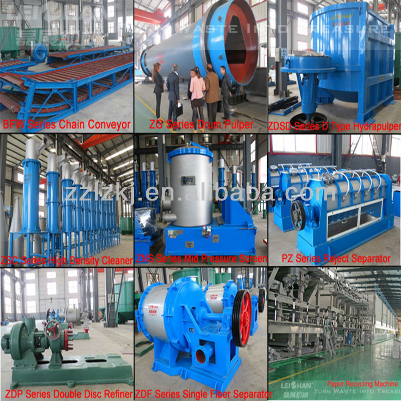 Paper Industry Machine Pulp Production Line One Year Warranty