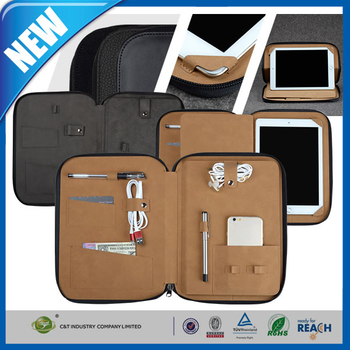 C&T 2015 HOT SALE High quality PU TRAVEL BAG with several pocket functions FOR IPAD