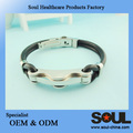 Eco-Friendly High Quality custom silicone negative ions bracelet
