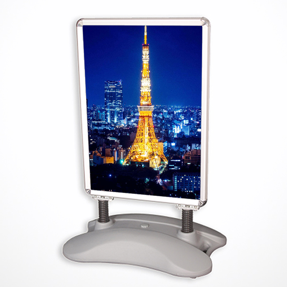 Outdoor A poster board stand , aluminum frame poster sign <strong>display</strong>