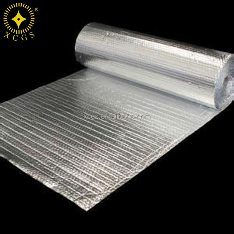 Double sided aluminum foil bubble thermal insulation