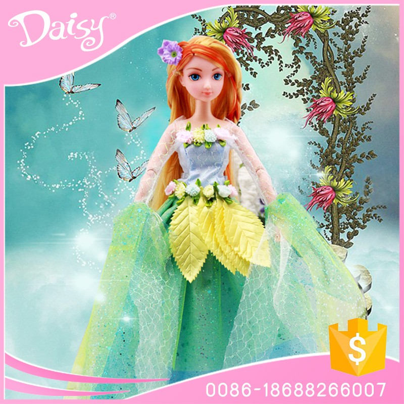 Wholesale customize nice bjd flying fairy princess dress display plastic barbiee doll