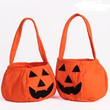 Halloween Party Pumpkin tote bag candy handbag gift bags(SWTAA3385)
