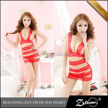 2015 Bandage Design Transparent Lace Japanese Mature Women Sexy Lingerie