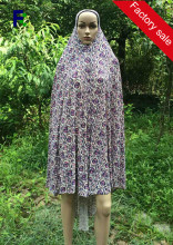 Charming Graceful Printed Lycra Muslim Women Prayer Dress Islamic Clothing Ladies Hijab Abaya Khimar Jilbab
