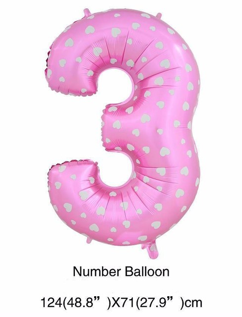 40 inches Number Foil Balloons Wedding Decorations Birthday Party Heart Digit Inflatable Helium Number Baloons Holiday Supplies